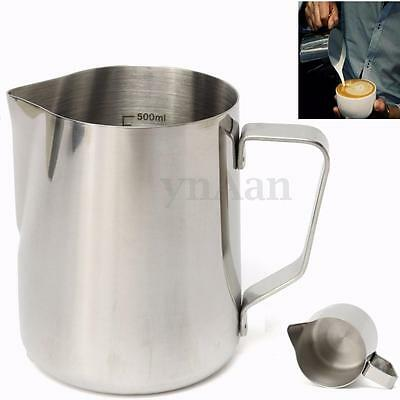 600ML Stainless Steel Coffee Milk Frothing Jug With Tick Mark Scale measuring