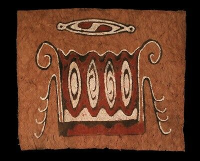 tapa, beated bark, painting bark, irian jaya, sentani, papua new guinea