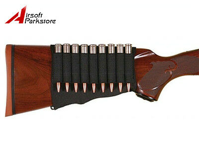 Tacitcal Hunting 9 Rounds Rifle Bullet Holder Butt Stock Shell Pouch Cartridge