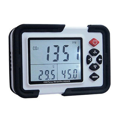 CO2 Carbon Dioxide Data Logger Air Humidity Monitor Temperature Meter LCD Light