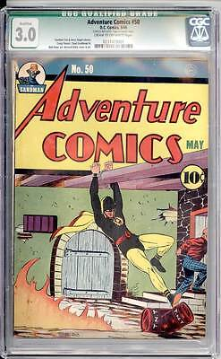 Adventure Comics # 50  Early Hourman Cover !  CGC 3.0 rare Golden Age book !