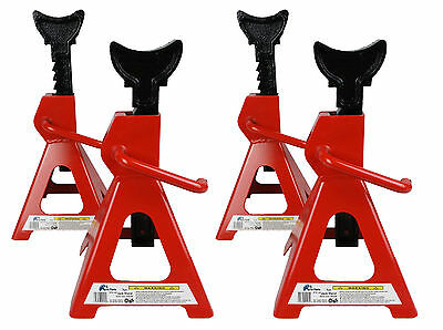 4 x 12 Ton Tonne Heavy Duty Axle Stands Jack Set 2 Pair Car Van Trolley CE