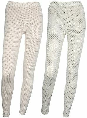 Ex Store 2 Pack of Soft Jersey Printed Leggings