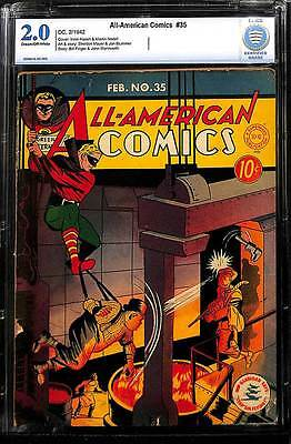 All American Comics # 35  Doiby learns GL's ID ! CBCS 2.0 rare Golden Age book !