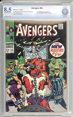 Avengers # 54  First app. of Ultron ! Masters of Evil !  CBCS 8.5 scarce book !