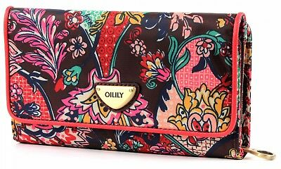 Oilily French Paisley L Wallet Geldbörse Portemonnaie Rot