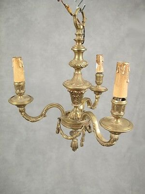 Antique French Bronze Chandelier - 11097
