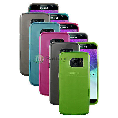 Lot of 5 Black/Blue/Clear Soft Rubber Case for Android Phone Samsung Galaxy S7