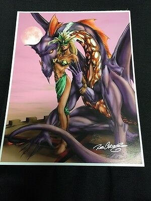 Rob Carlos Dragon Fantasy Art - Autographed