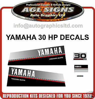 1986 - 1989 Yamaha 30 Hp Precision Blend  Outboard Decals