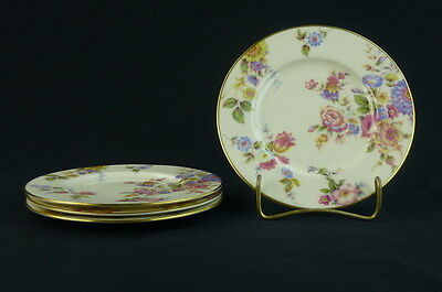 Sunnybrooke Castleton China Set Of 4 Bread and Butter Plates Multifloral Cream