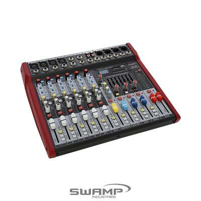 SWAMP 6 Channel Mixing Desk Console - 4 Preamps Mixer - FX - AUX - USB MP3