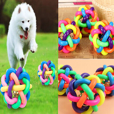 Funny Pet Dog Puppy Dental Teething Healthy Teeth Chew Training Play Ball Toy