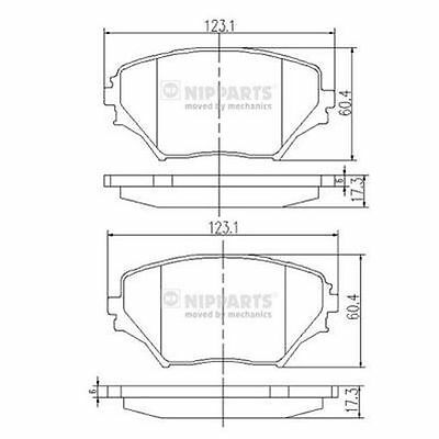 To Clear - New Oe Quality Nipparts - Front - Brake Pads Set - J3602095