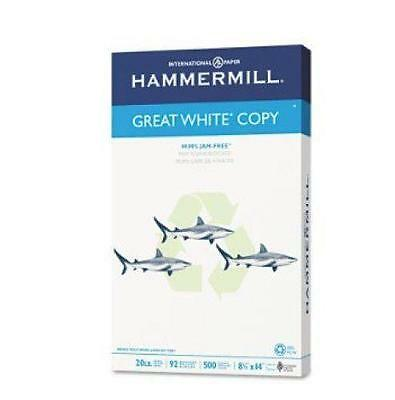 """NEW Hammermill Great White Copy Legal Paper 500 Sheets 20lbs 8.5""""x14"""""""