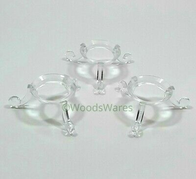 3 x  Clear DISPLAY STANDS  Acrylic Plastic Perspex   Spheres Crystals Eggs Balls