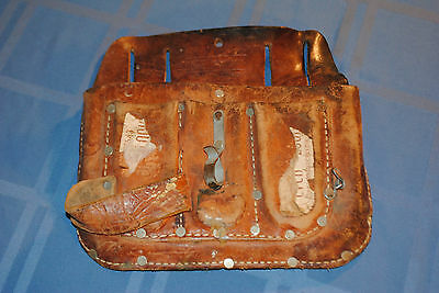 Vintage Good Old Sears Craftsman Tool Knife Pouch for belt Top Grain Cow Hide