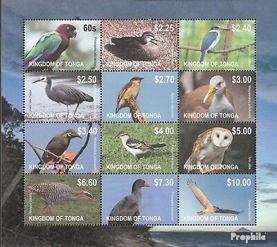 Tonga 1754-1765 zd-feuille (édition complète) neuf 2012 timbres: Oiseaux