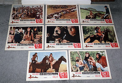 GERONIMO original 1962 lobby card set CHUCK CONNORS 11x14 movie posters