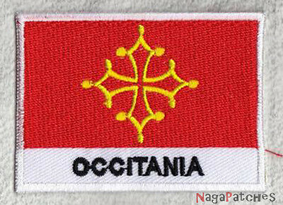 patch embroidered badge sew-on badge flag patch OCCITANIA 70/45 mm