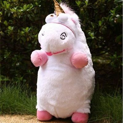 """NEW 16"""" inch Despicable Me Fluffy Unicorn White Soft Plush Doll Fluffy Toy Gift"""