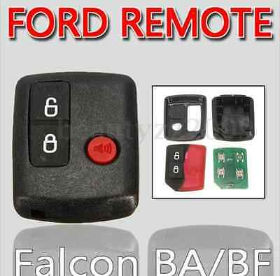 2pcs 3 Button Keyless Entry Remote Key For Ford BA BF Falcon Territory SX SY
