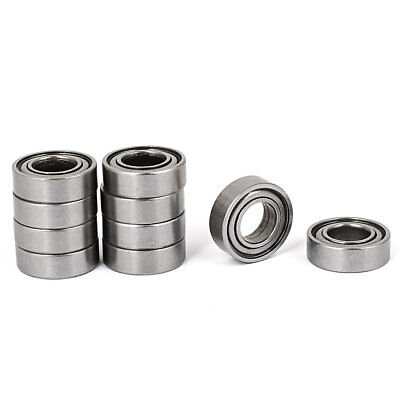 8mm x 16mm x 5mm Sealed Flanged Shielded Ball Bearing 688ZZ 10 Pcs