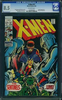 X-Men # 57  Neal Adams cover / art - The Sentinels Live !  CGC 8.5 scarce book !