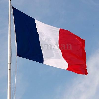 3FT x 2FT France French National Flag Banner Tricolour Hanging With Metal Eyelet