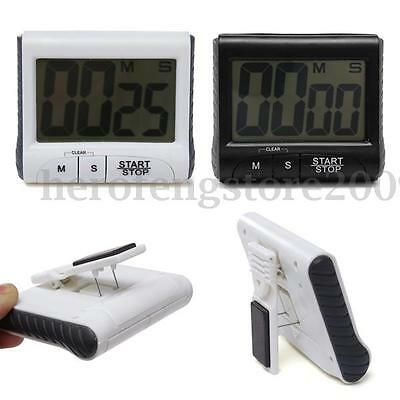 Digital Large LCD Kitchen Timer Count-Down Up Cooking Clock Loud Alarm Backlight