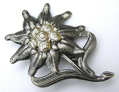 GERMAN MOUNTAIN FIGHTERS EDELWEISS CAP BADGE by MIL-TEC