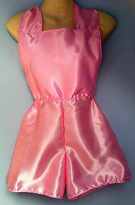 pink satin shorts romper  french maid cosplay sissy adult baby boxers 28-38