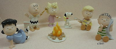 Lenox Snoopy PEANUTS CAMPING ADVENTURE Set of 7 Figurine - New In Box