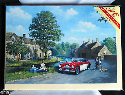 Austin seven 7 Christmas Card  London scene Big Ben Austin Ruby 7 LMS Parcels