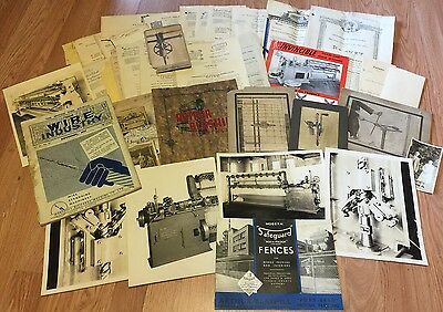 Arthur Blashill Inventor Metal, Wire Fencing Equipment, 35+ Patent & Photo 1930s