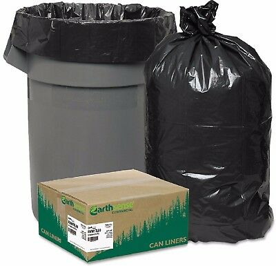 80 Large 33 Gallon Commercial Trash Can Bags Heavy Garbage Duty Yard EarthSense