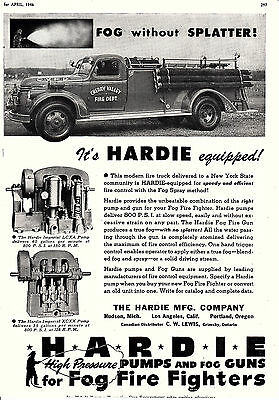 Cherry Valley  Ny  Has An Hardie Equiped Pumper  1946  Ad
