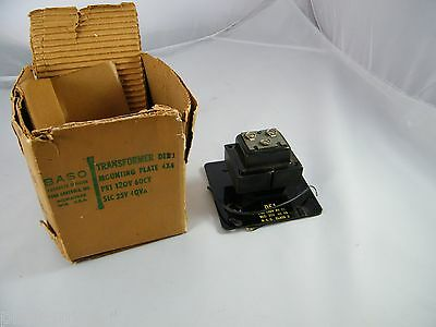 New Baso Penn Controls Transformer & 4 X 4 Mounting Plate Part # De1 Pri 120V