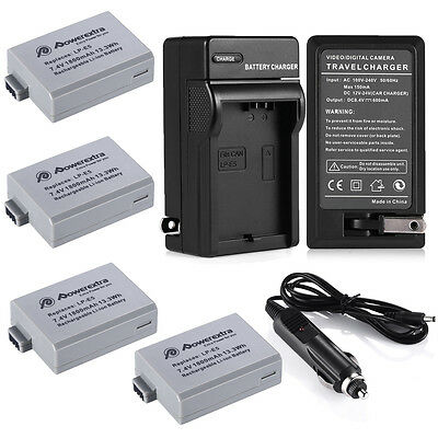 1800mAh LP-E5 LPE5 Battery or Charger For Canon Rebel Xs Xsi T1i 450D 1000D