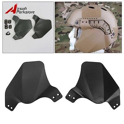 Tactical Side Soft Ear Cover Protector for Emerson Fast Helmet Rail System Black