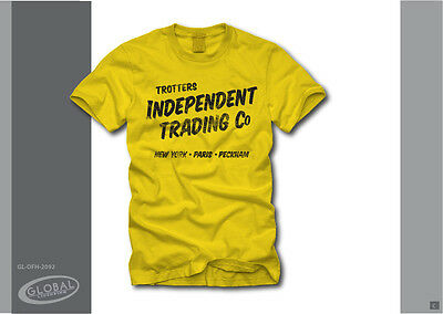 """T-shirt jaune Only Fools and Horses """"Trotters Independent Trading"""" Officiel"""