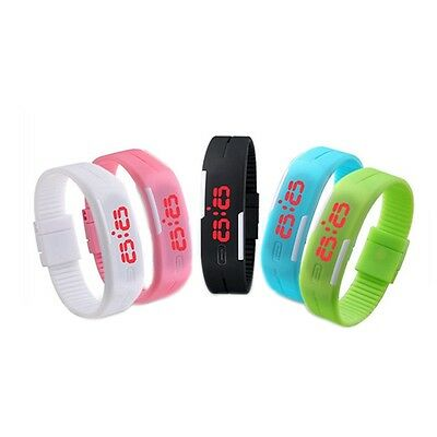 Silicone Fitness Jelly Couleur horloge LED Lovers Bracelet, Neuf