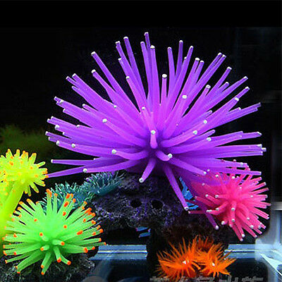Decorazione Per Acquario Anemone Barriera Corallina Silicone Artificiale