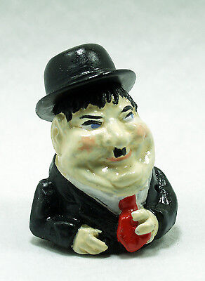 Oliver Hardy  Comedy film star Thimble novelty hand painted pewter