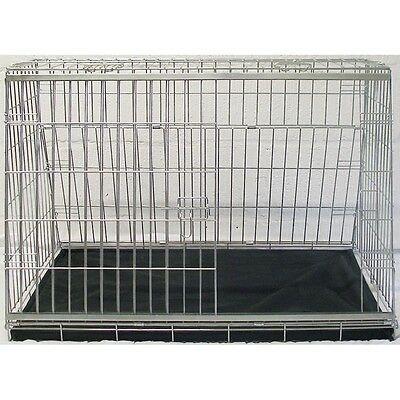 Sloping Front Dog Car Cage Pet Carrier Guard Crate Puppy Hatchback Estate 34""