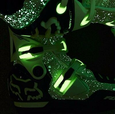 Fox Racing LE GLOW IN THE DARK Instinct Motocross Boots SIZE 11