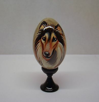 Russian eggs. High quality. Hand-painted Collie
