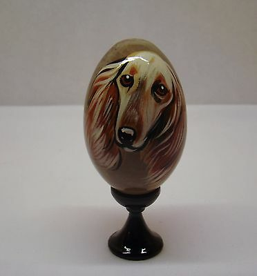 Russian eggs. High quality. Hand-painted Saluki