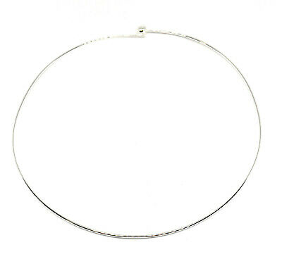 2 silver plated beadable neckwire necklace choker base