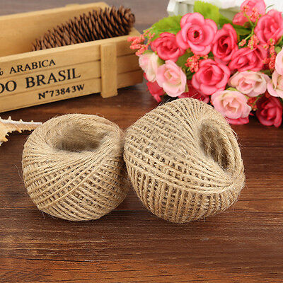 1Roll Natural Brown Jute Hessian Burlap Twine Sisal Rustic String Cord DIY Decor